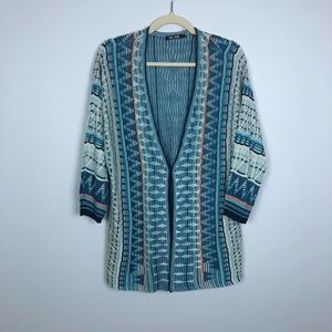 Nic & Zoe Geometric Boho Cardigan with Claspe